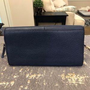 kate spade Bags - Kate Spade Navy Pebbled Leather Satchel Handbag